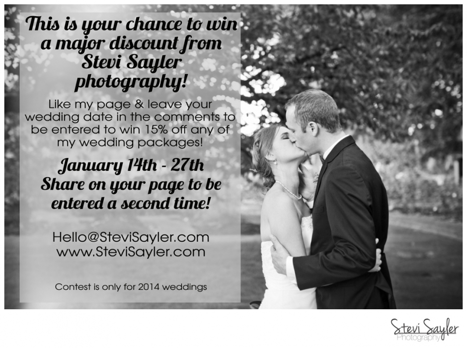 January Wedding Photography Discount from Stevi Sayler Photography