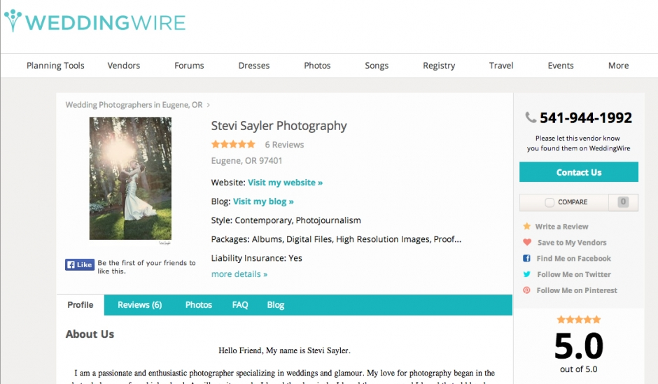 Stevi Sayler Photography Wedding Photographer Weddingwire Profile
