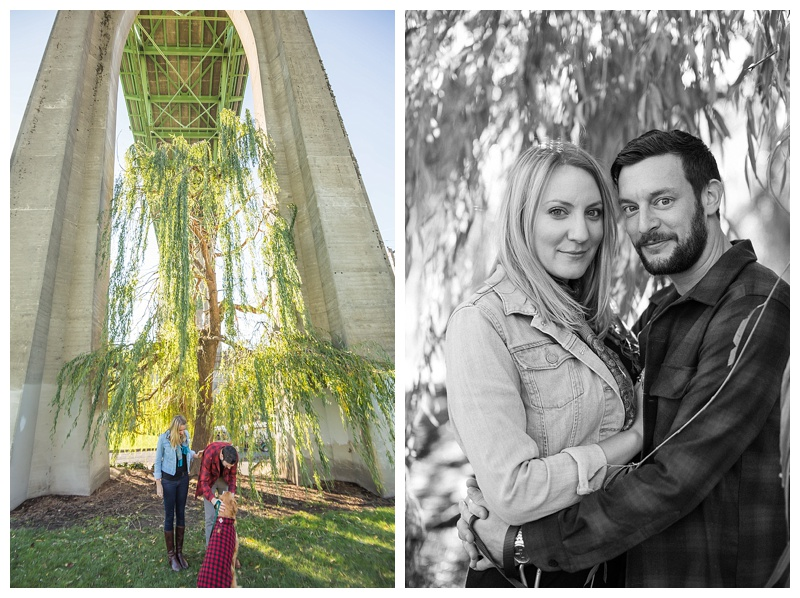 Cathedral Park // Portland, Oregon Fall Engagement Session // Erin & Nick Engaged // Stevi Sayler Photography