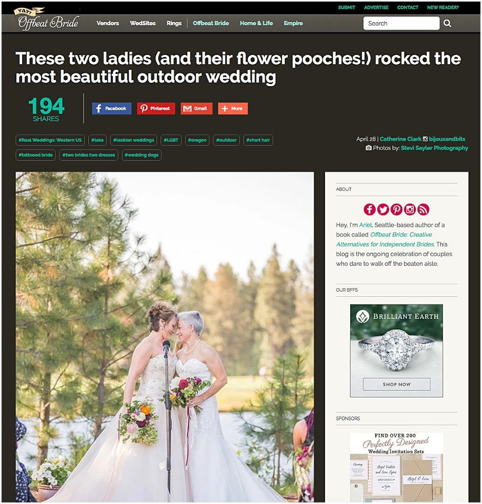 Offbeat Bride Wedding Blog Feature - Stevi Sayler Photography - Melissa & Lauren